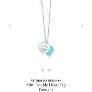 Tiffany & Co. Mini Double Heart Tag Pendant